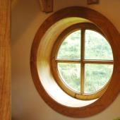 Beech and Cedar round window