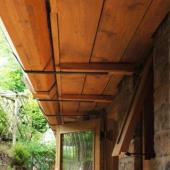Larch gutters and Pine soffit