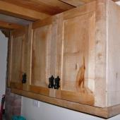 Sycamore kitchen cupboards