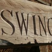 Carved Lettering Swing