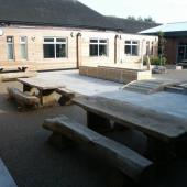 Woodheys School Benches and Planters